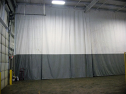2 Color Industrial Flame Resistant Curtain